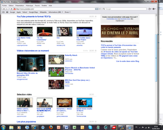 Youtube Accueil
