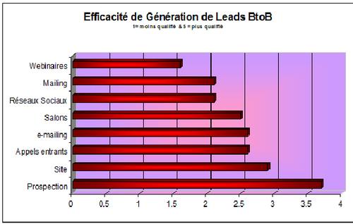 Efficacité Génération Leads BtoB