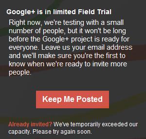 Google plus keep me posted