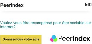 Peerindex influenceur