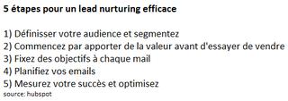 Lead nurturing efficace