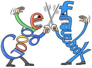 Guerre facebook google
