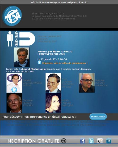 Cyril Bladier Inbound Marketing T2M2013