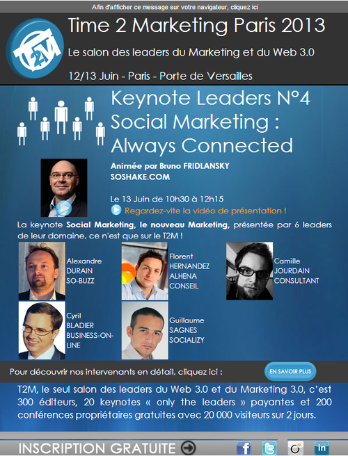 Cyril Bladier Social Marketing T2M2013