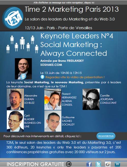 Cyril Bladier Social Marketing T2M2013