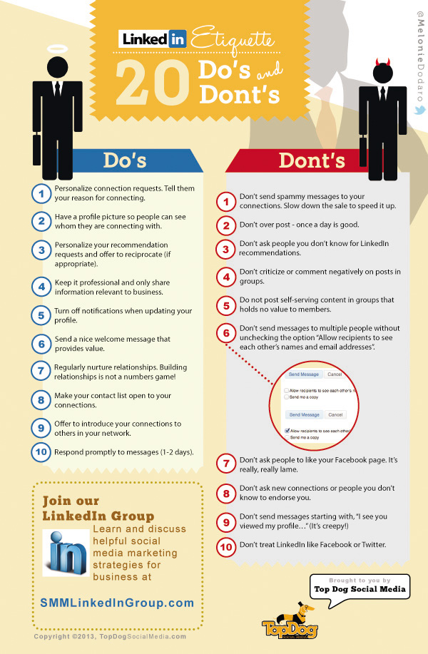 LinkedIn 20 do's and dont's