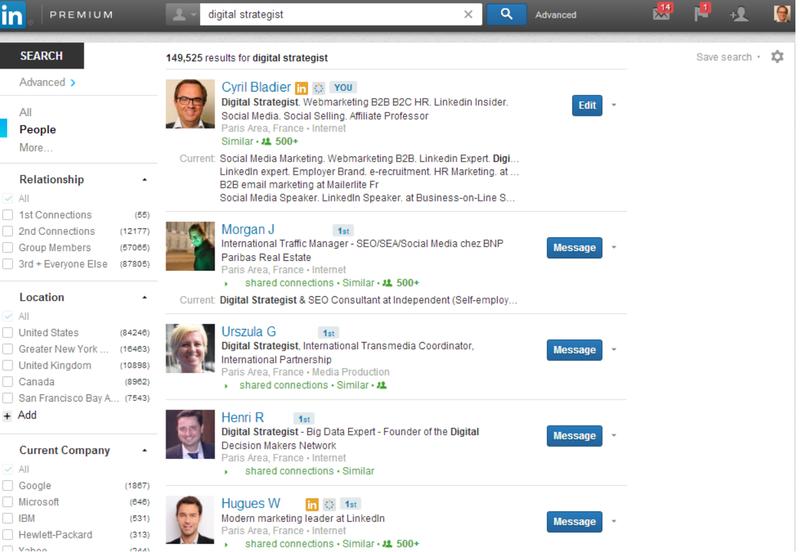 New LinkedIn premium 7