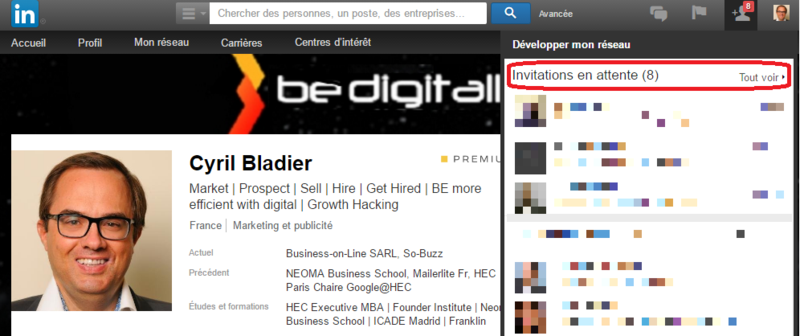LinkedIn invitations en attente