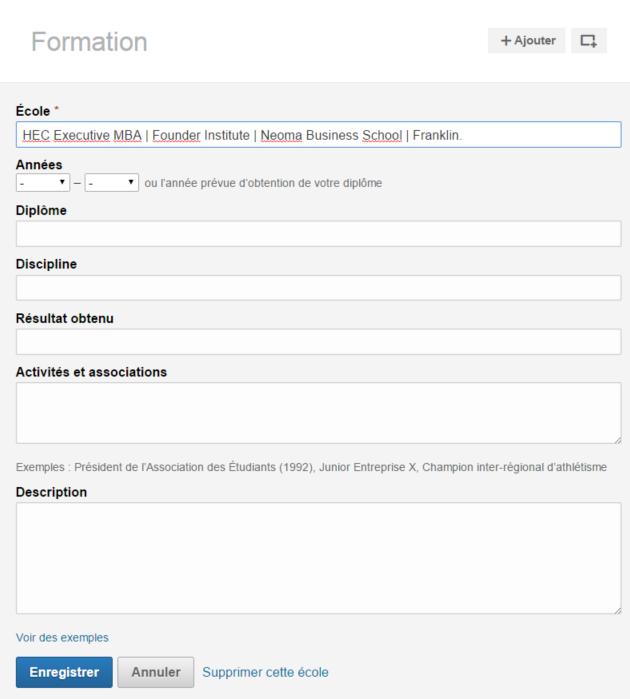 LinkedIn Formations