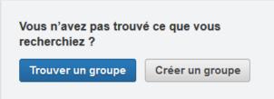 LinkedIn trouver créer groupe