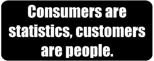 Consumers are statistics