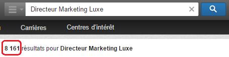 Linkedin exemple de recherche