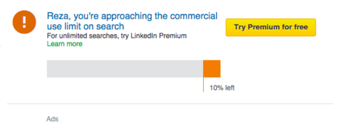 LinkedIn Approach search limit