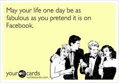 Facebook ideal life