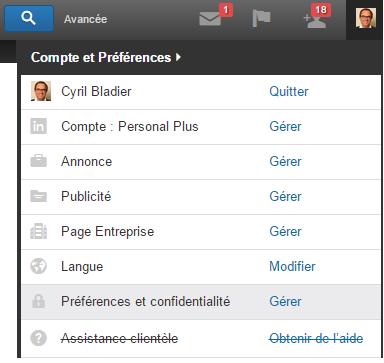LinkedIn préférences