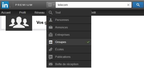 LinkedIn moteur groupes