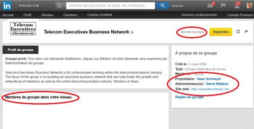 LinkedIn présentation groupe