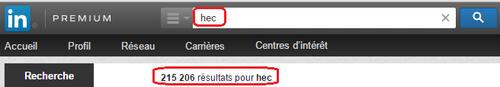 Linkedin recherche HEC