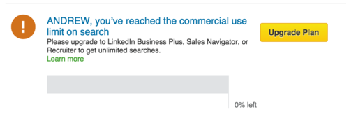 LinkedIn reach search limit